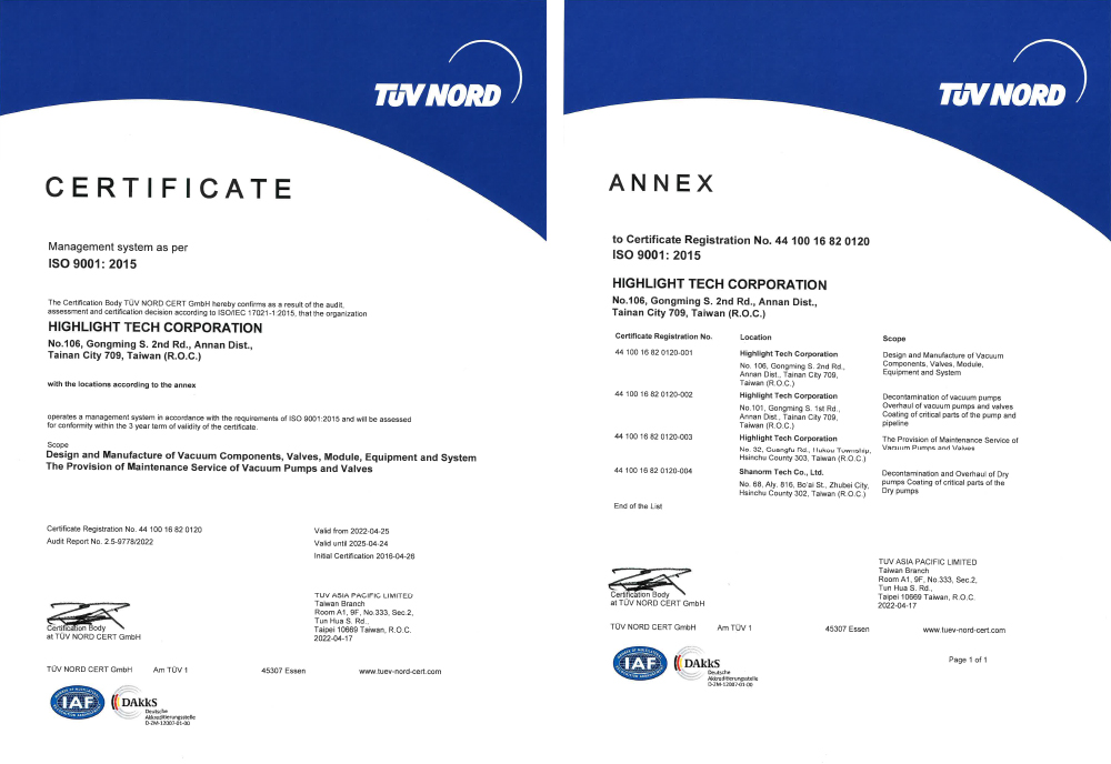 ISO 9001 international quality standard certification