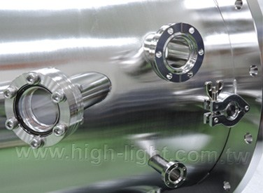 Design cylindrical vacuum chamber