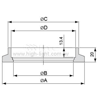 套焊法兰(KF80-160)