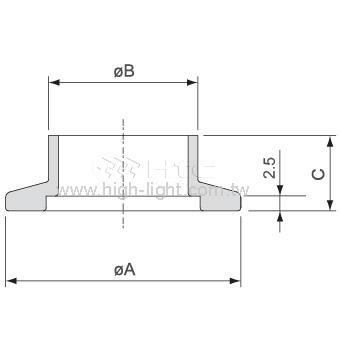 对焊法兰(短颈管)