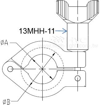 13MHH 重负荷单爪卫生级卡钳