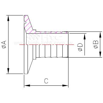 14MPHR 卫生管件连接头