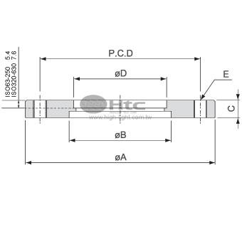 ISO通孔法兰(螺栓孔接头)