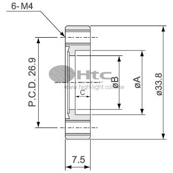 CF16空心法兰(不旋转-螺栓孔接头法兰)