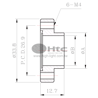 CF16空心法兰(短颈不旋转-螺栓孔接头法兰)