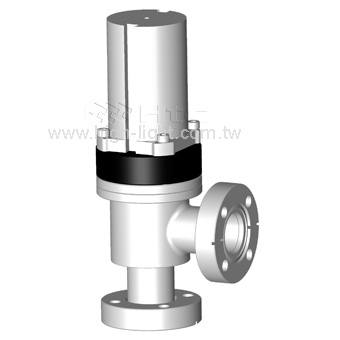 CF Flange with Bellows Attached Reed Sensor(USA) Angle Valves | Pneumatically Actuated