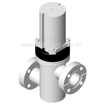CF Rotatable Flange without Bellows / Spring to Close(USA) Z-line Valve | Pneumatically Actuated