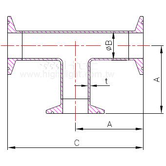 C.7MP - 卫生级三通管