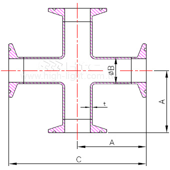 C.9MP - 卫生级四通管