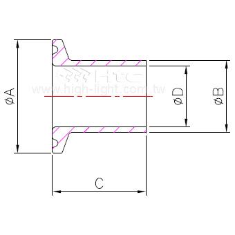 DIN 卫生管件(短型)