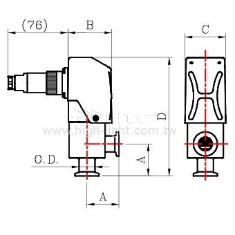 整合输出型-高真空铝合金阀门