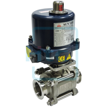 Vacuum ball valve series have motor drive valve , pneumatic actuated valve - Htc vacuum