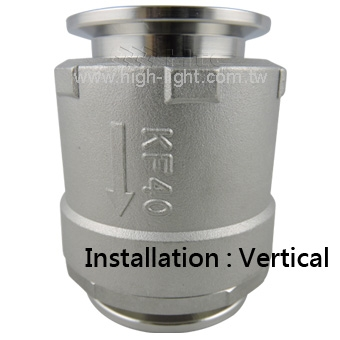 KF CHECK VALVE<br>Vertical direction