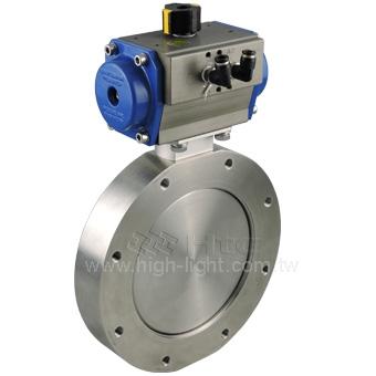 Pneumatic butterfly valve for pneumatic actuators valves - Product Catalog | Htc vacuum