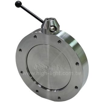 High vacuum butterfly valves - manual valve | Htc vacuum