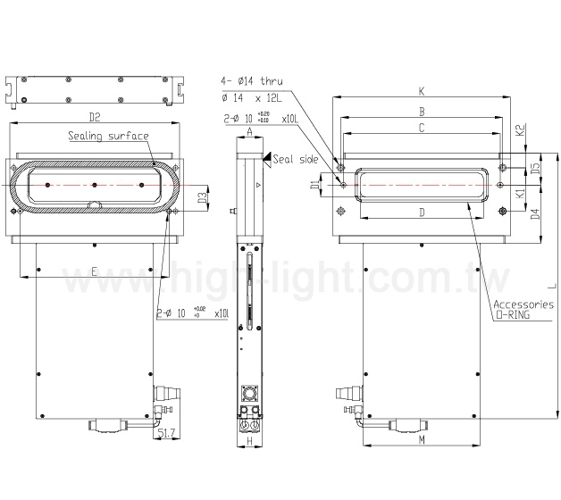 矩形阀门transfer valve - 阳极硬膜处理
