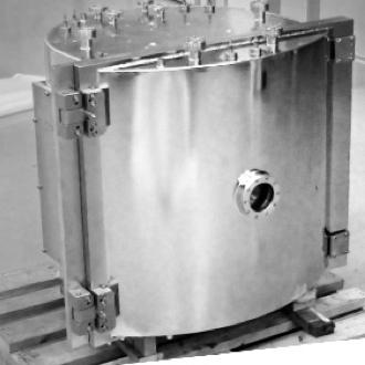 圓柱形客製UHV超高真空腔體 | Htc日揚真空應用系統整合設計供應製造廠
